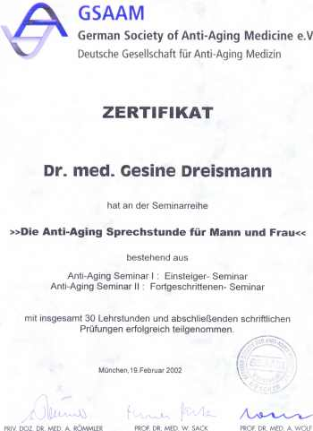 German society of Anti-Aging Medicine